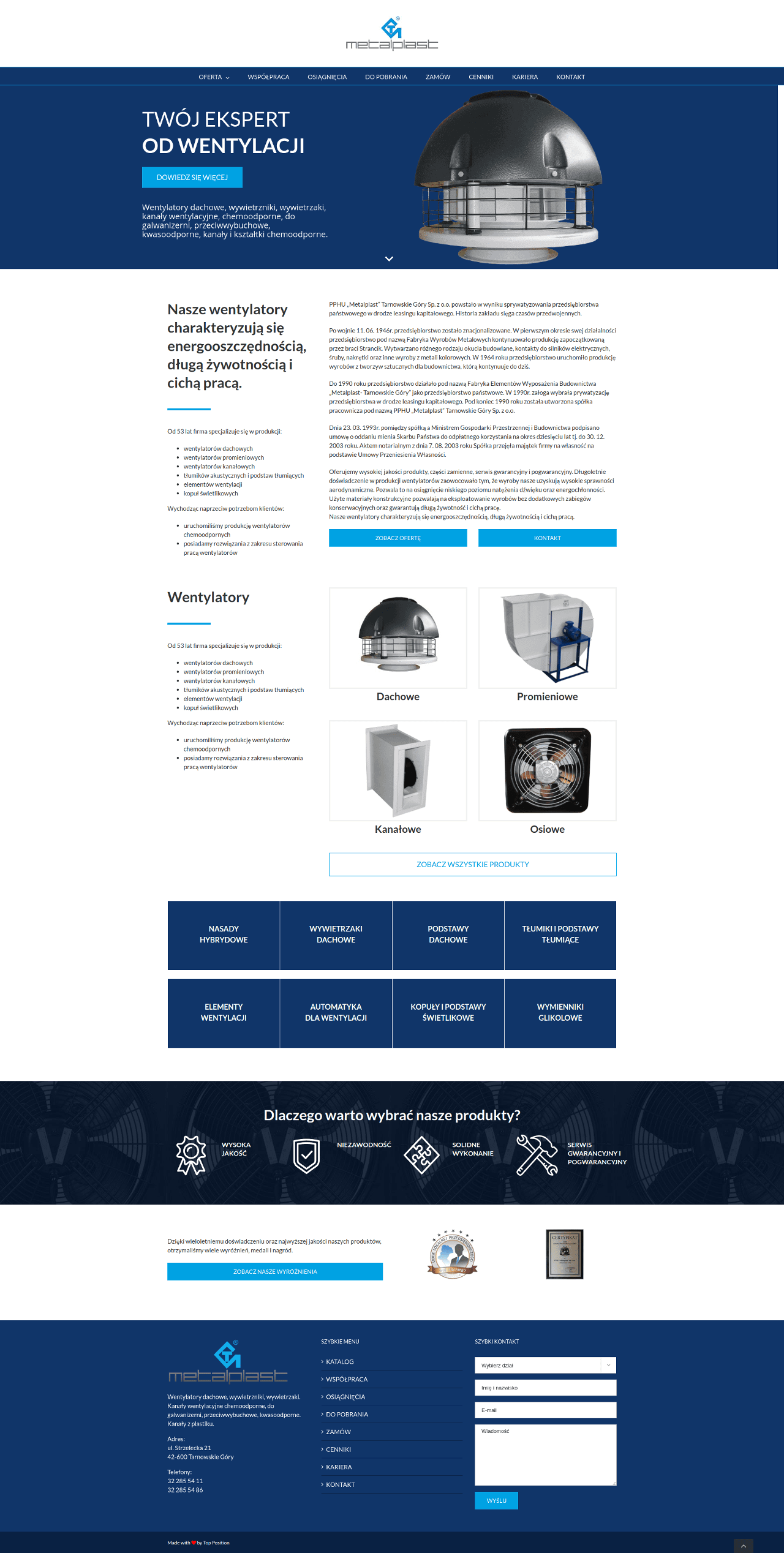 Portfolio metalplast.info.pl